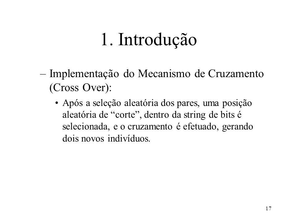1. Introdução Implementação do Mecanismo de Cruzamento (Cross Over):