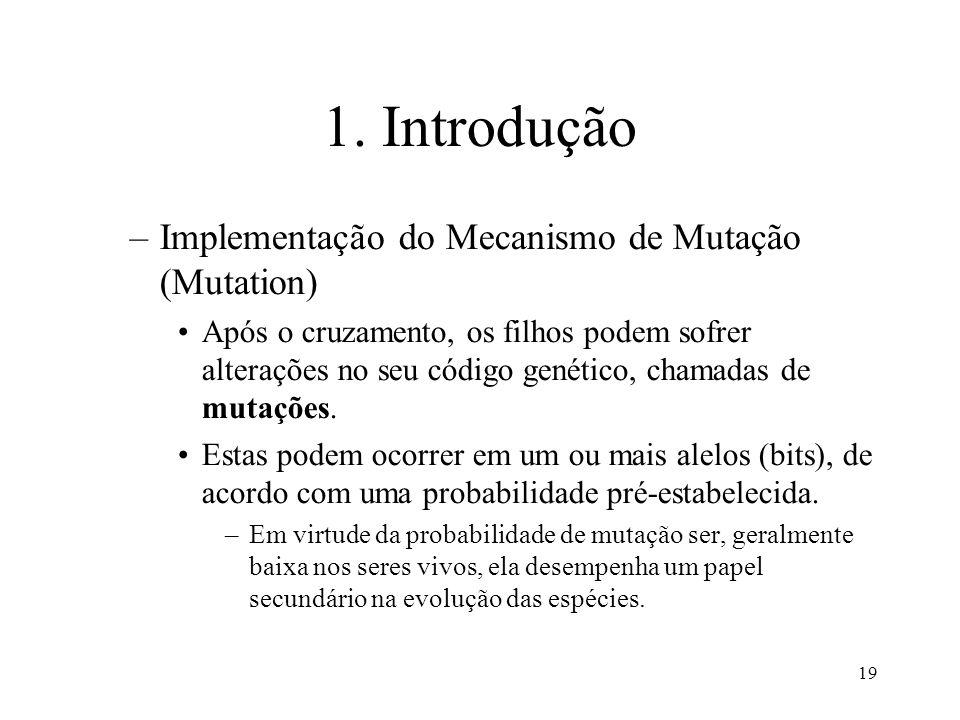 1. Introdução Implementação do Mecanismo de Mutação (Mutation)