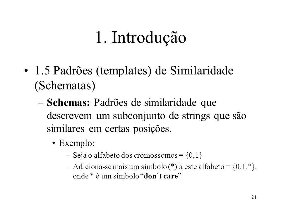 1. Introdução 1.5 Padrões (templates) de Similaridade (Schematas)
