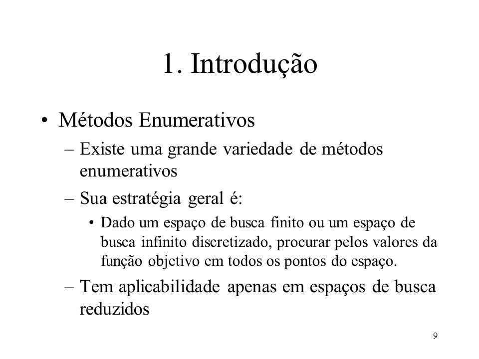 1. Introdução Métodos Enumerativos