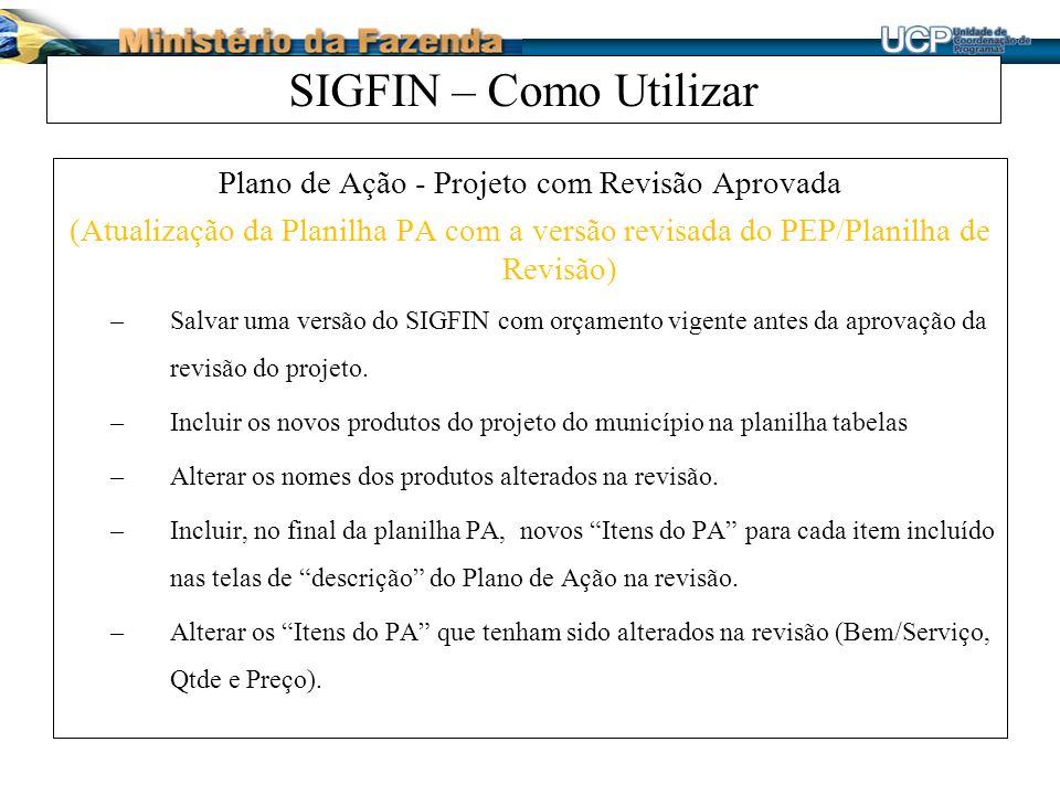 Plano de Ação - Projeto com Revisão Aprovada