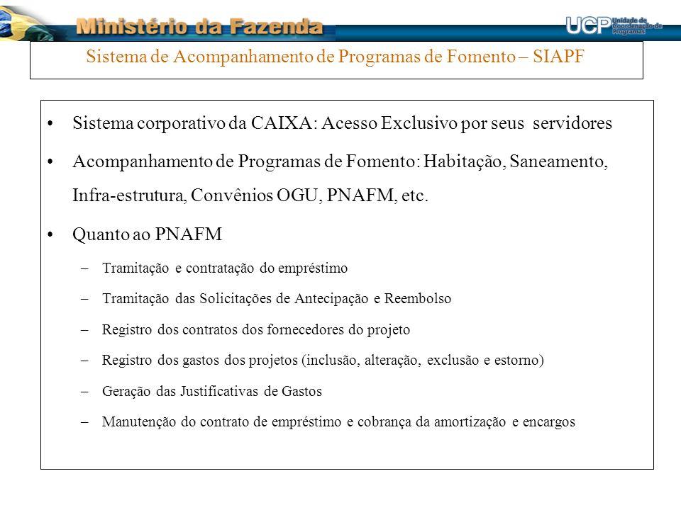 Sistema de Acompanhamento de Programas de Fomento – SIAPF