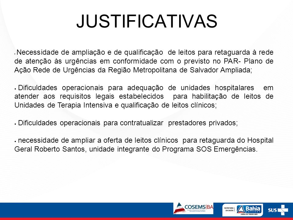 JUSTIFICATIVAS
