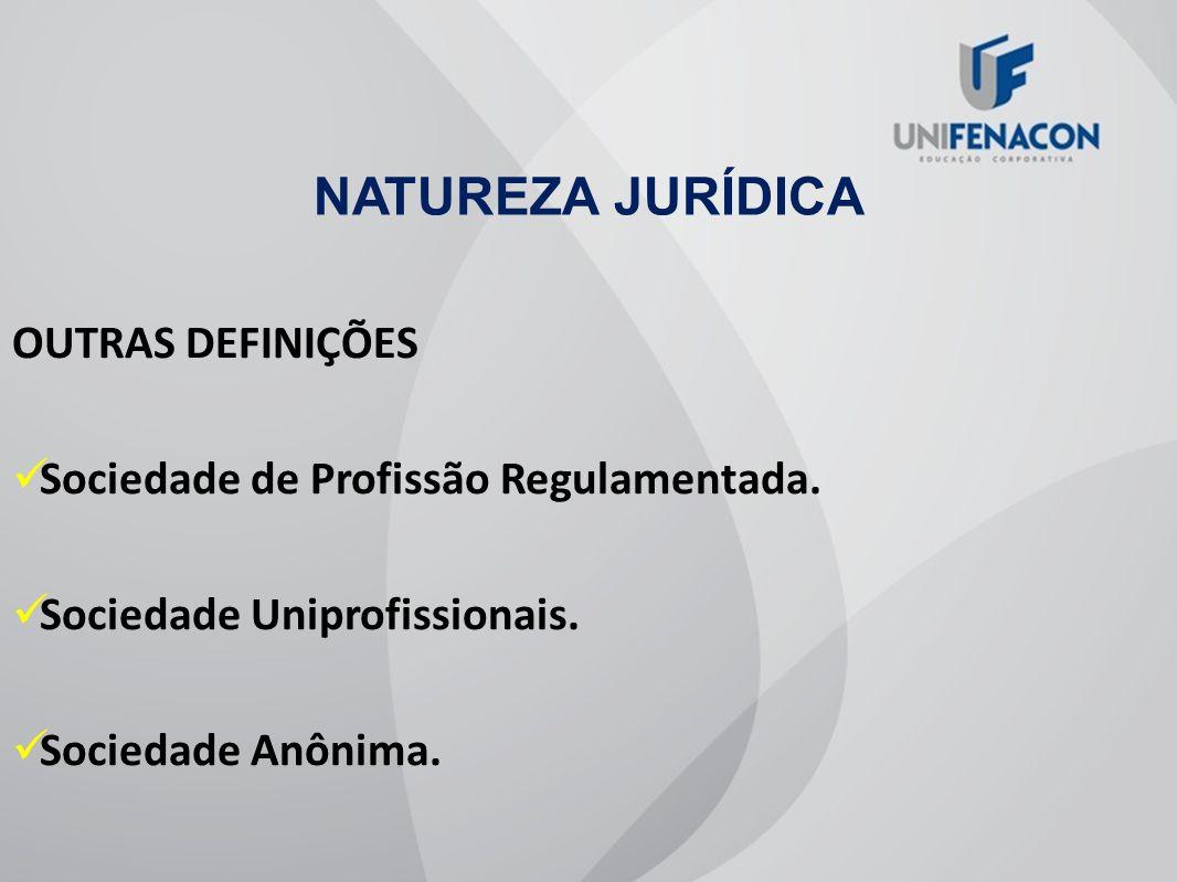 NATUREZA JURÍDICA OUTRAS DEFINIÇÕES