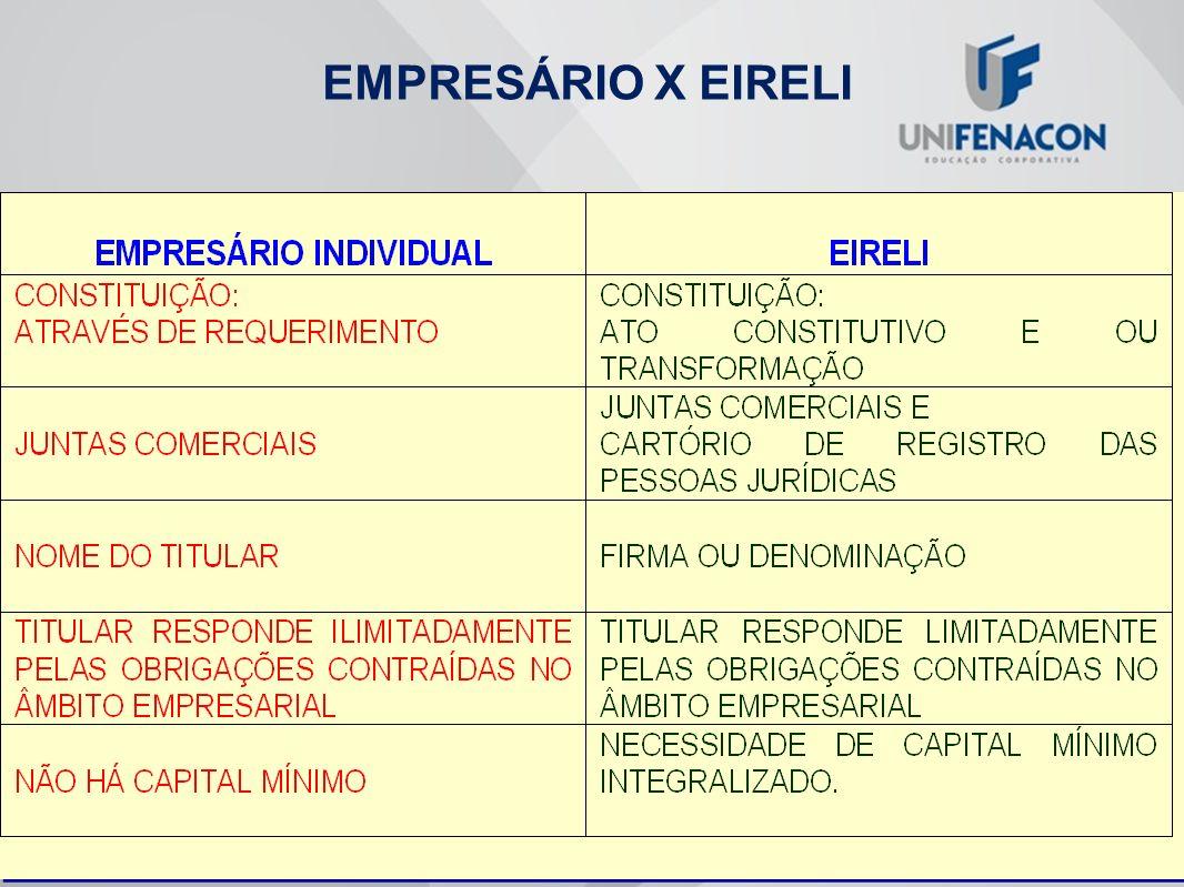 EMPRESÁRIO X EIRELI