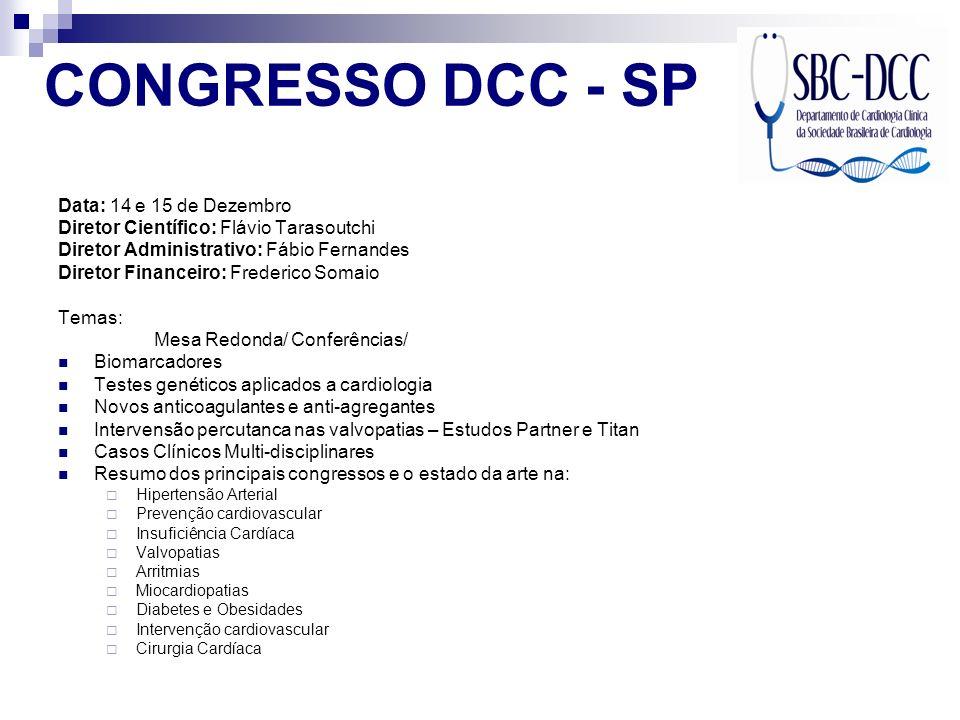 CONGRESSO DCC - SP Data: 14 e 15 de Dezembro