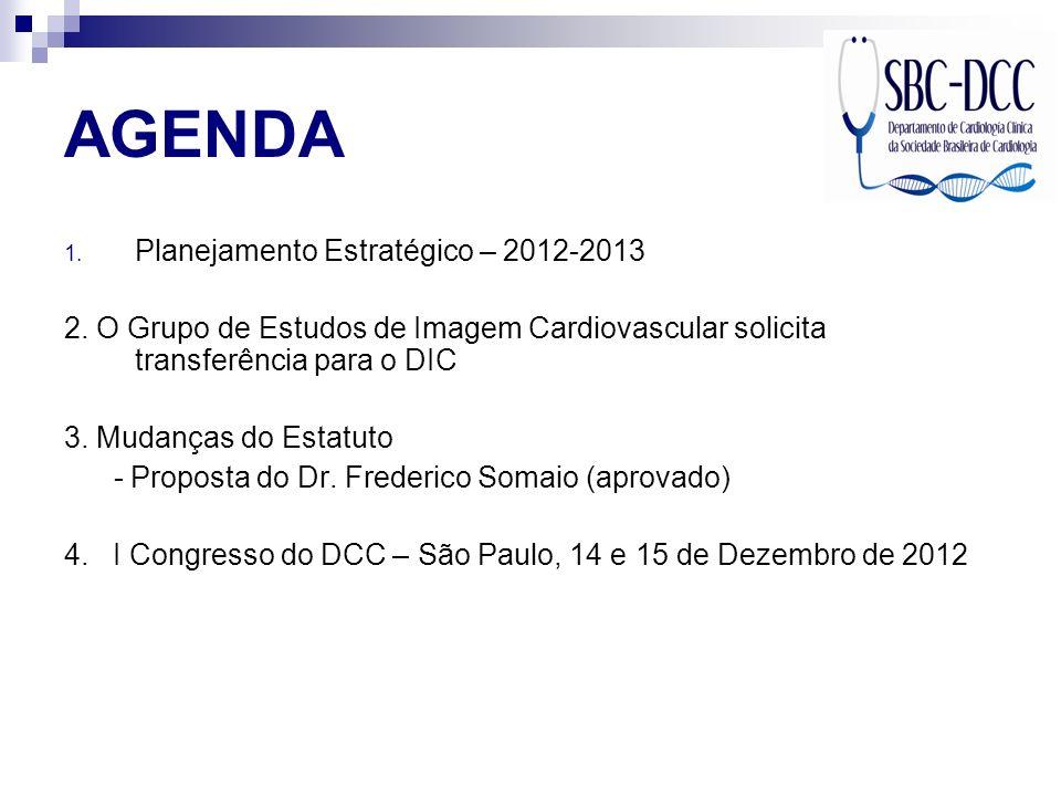 AGENDA Planejamento Estratégico – 2012-2013