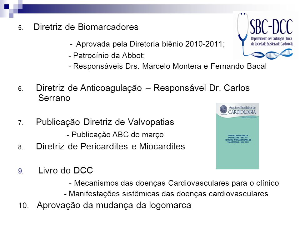 - Aprovada pela Diretoria biênio 2010-2011;