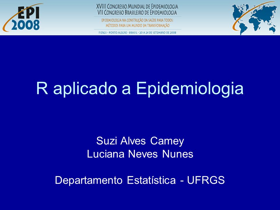 R aplicado a Epidemiologia