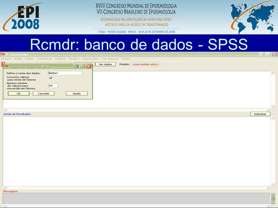 Rcmdr: banco de dados - SPSS