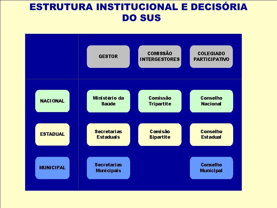 ESTRUTURA INSTITUCIONAL E DECISÓRIA