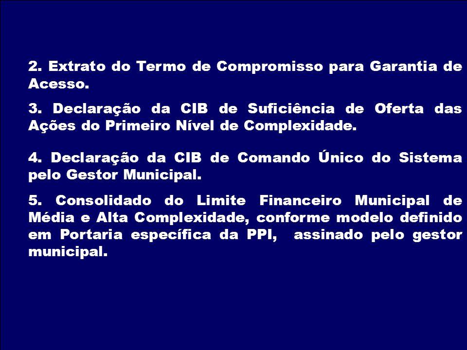 2. Extrato do Termo de Compromisso para Garantia de Acesso.