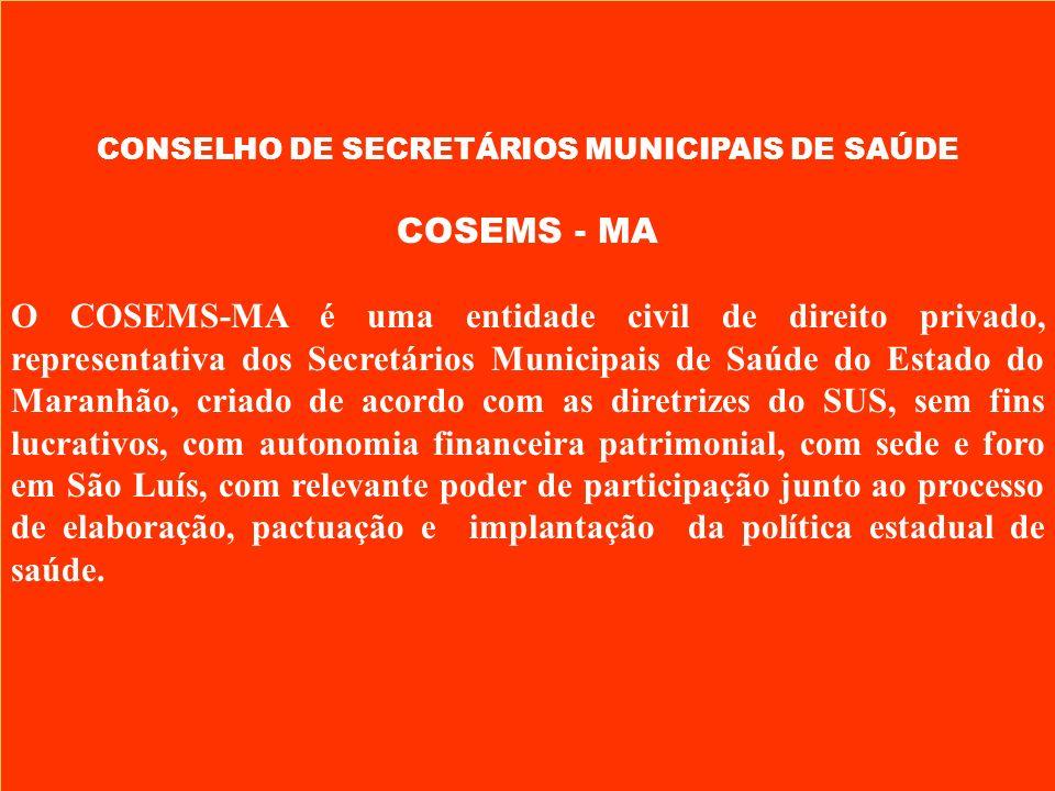 CONSELHO DE SECRETÁRIOS MUNICIPAIS DE SAÚDE