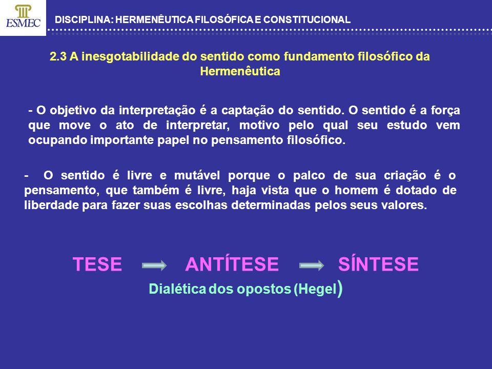 Dialética dos opostos (Hegel)