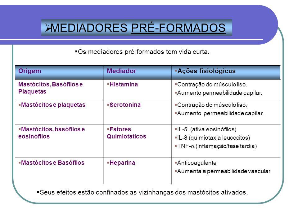 MEDIADORES PRÉ-FORMADOS