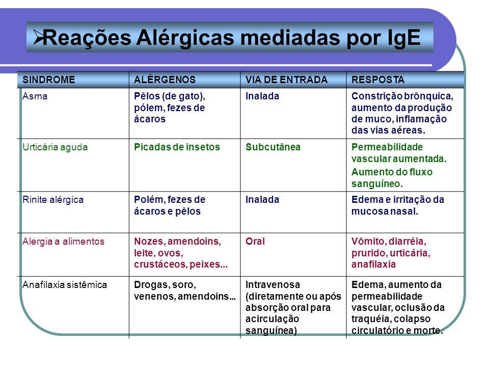 Reações Alérgicas mediadas por IgE