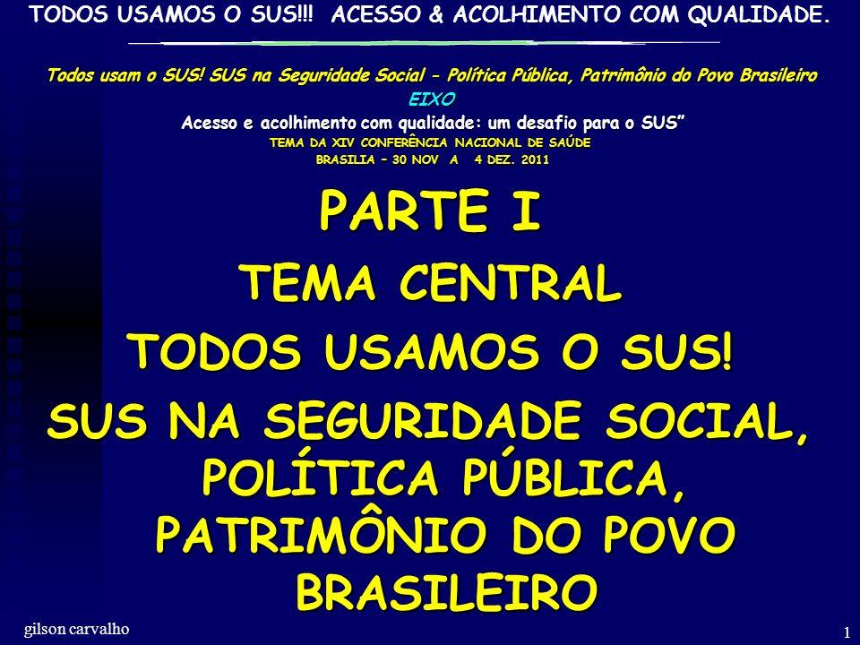PARTE I TEMA CENTRAL TODOS USAMOS O SUS!