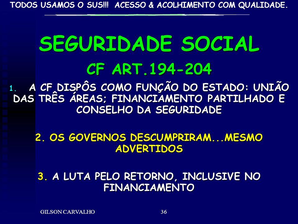 SEGURIDADE SOCIAL CF ART.194-204