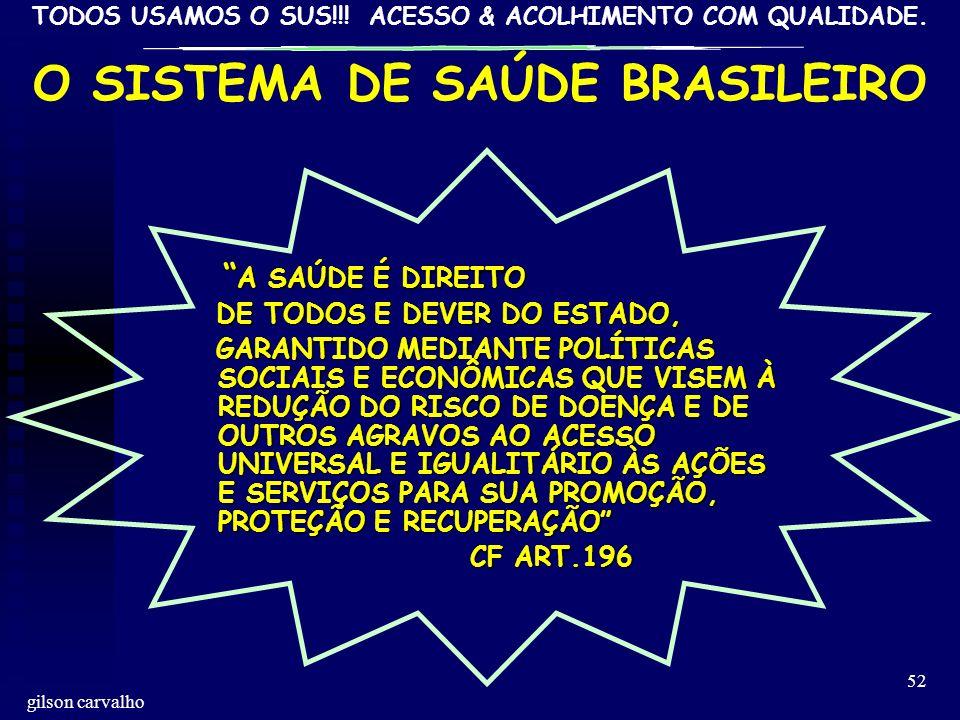 O SISTEMA DE SAÚDE BRASILEIRO
