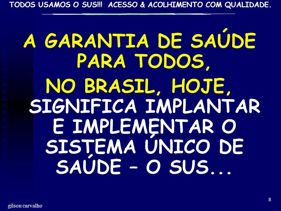 A GARANTIA DE SAÚDE PARA TODOS,