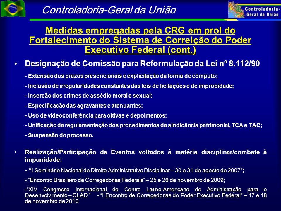 Designação de Comissão para Reformulação da Lei nº 8.112/90