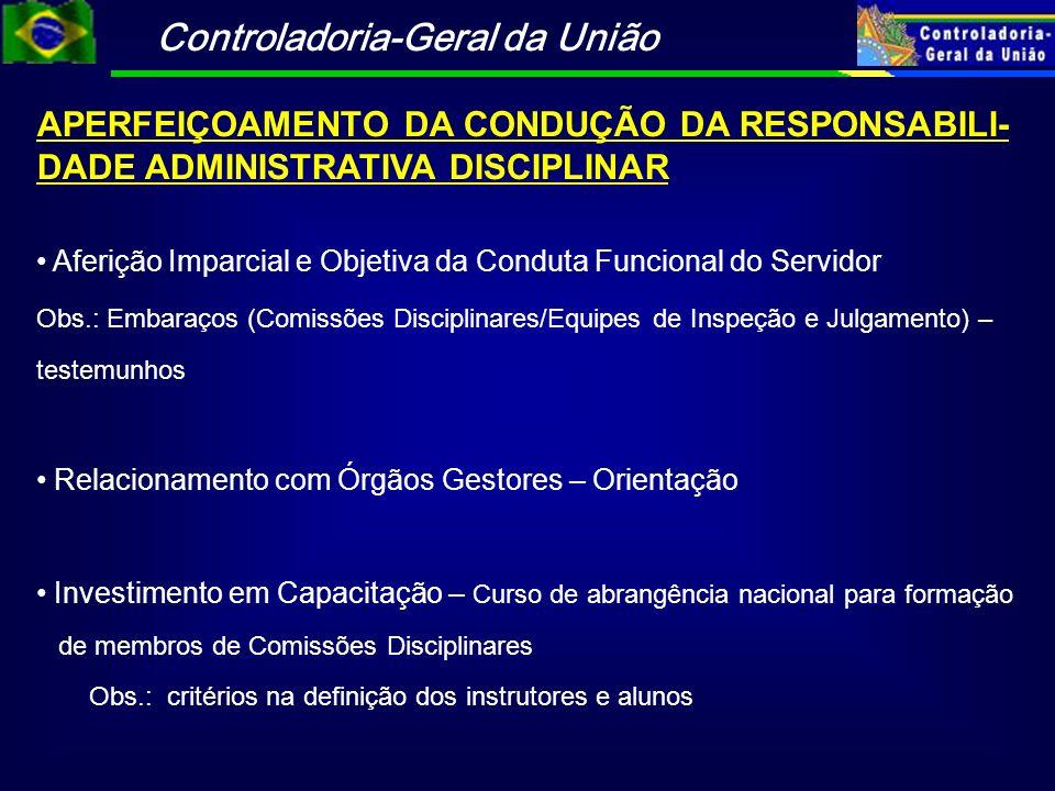APERFEIÇOAMENTO DA CONDUÇÃO DA RESPONSABILI-