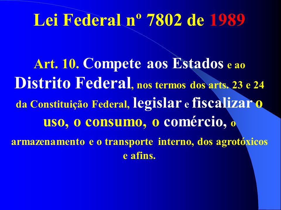 Lei Federal nº 7802 de 1989