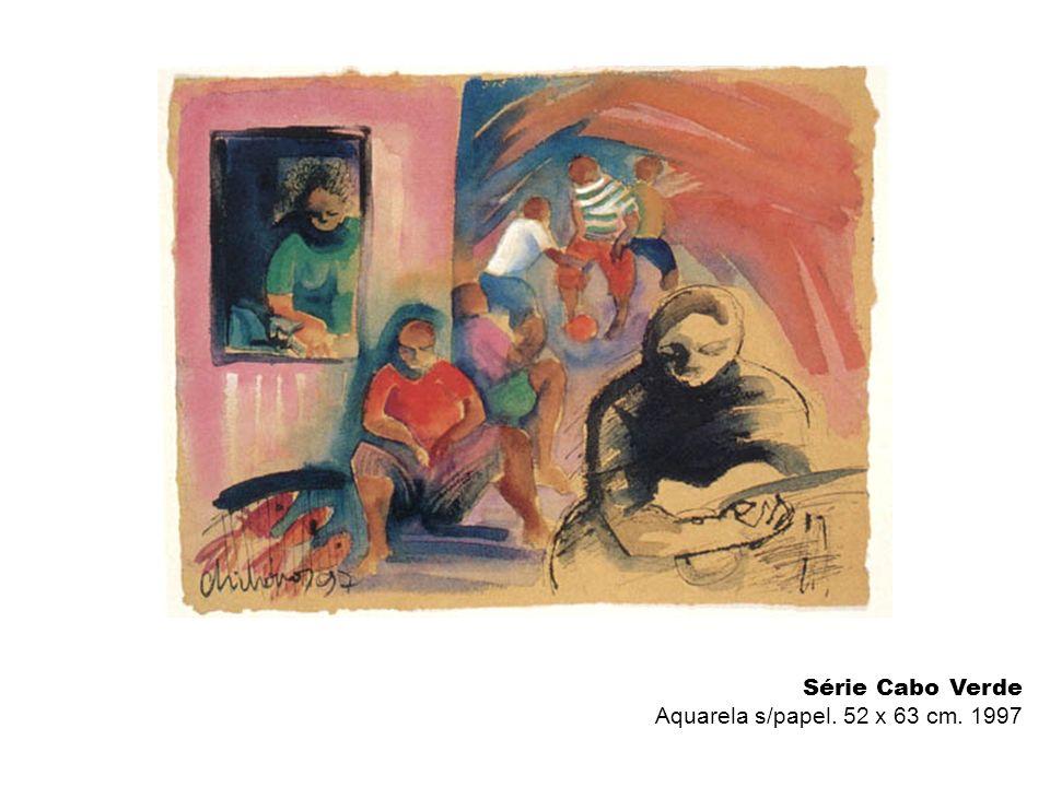 Série Cabo Verde Aquarela s/papel. 52 x 63 cm. 1997