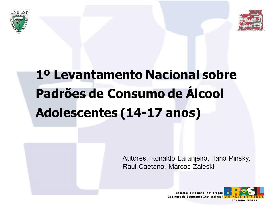 1º Levantamento Nacional sobre Padrões de Consumo de Álcool Adolescentes (14-17 anos)