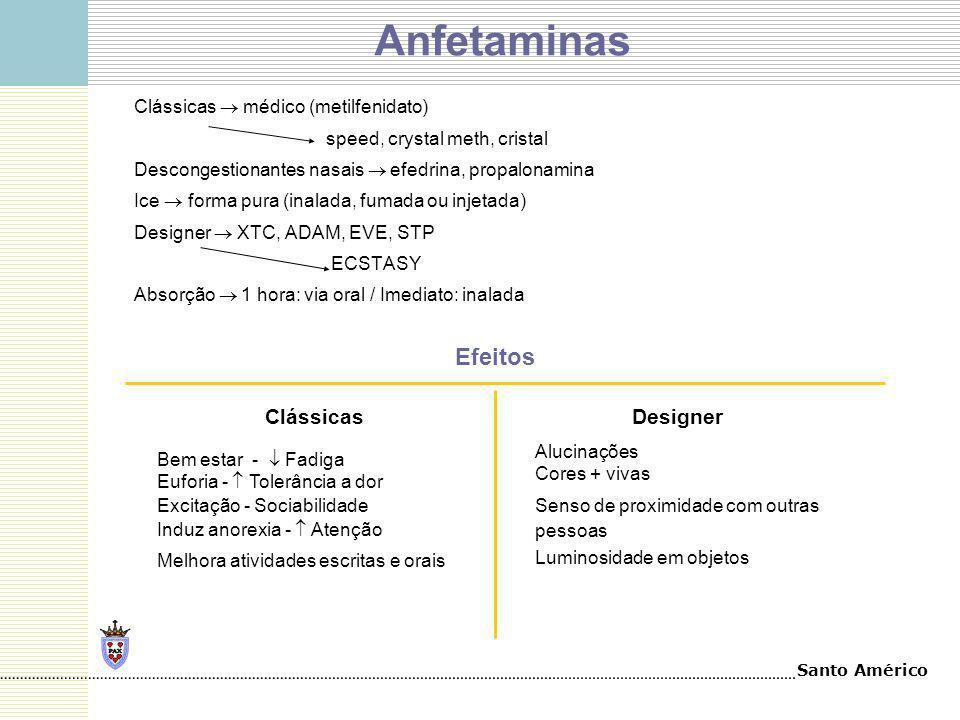 Anfetaminas Efeitos Clássicas Designer