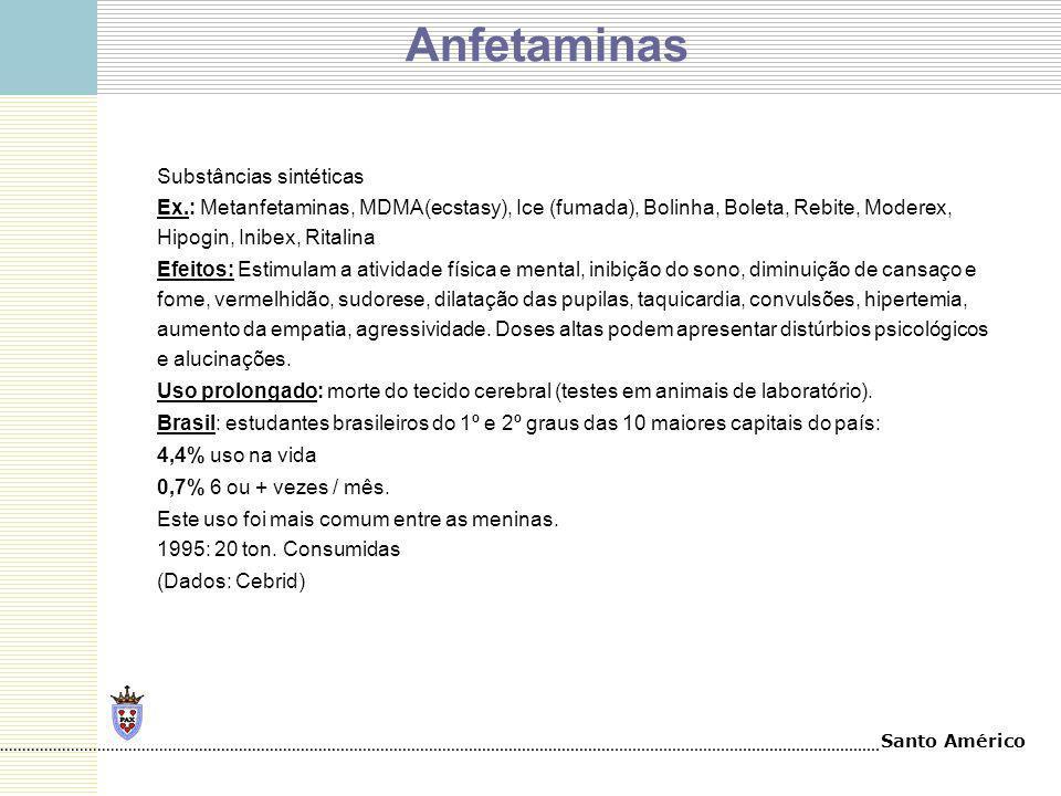 Anfetaminas Substâncias sintéticas