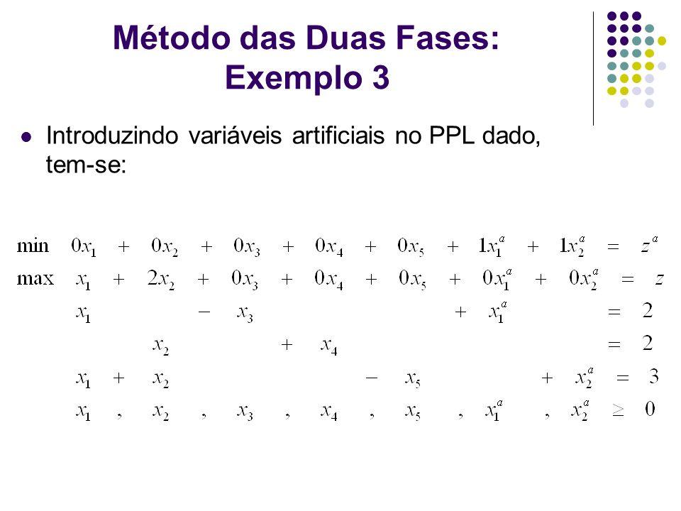Método das Duas Fases: Exemplo 3