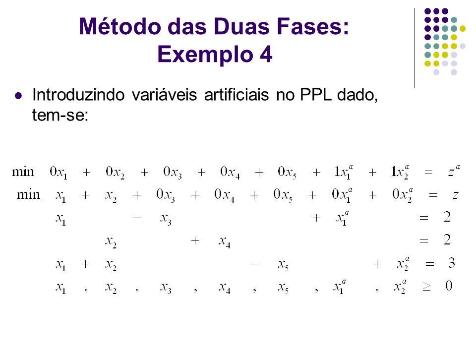 Método das Duas Fases: Exemplo 4