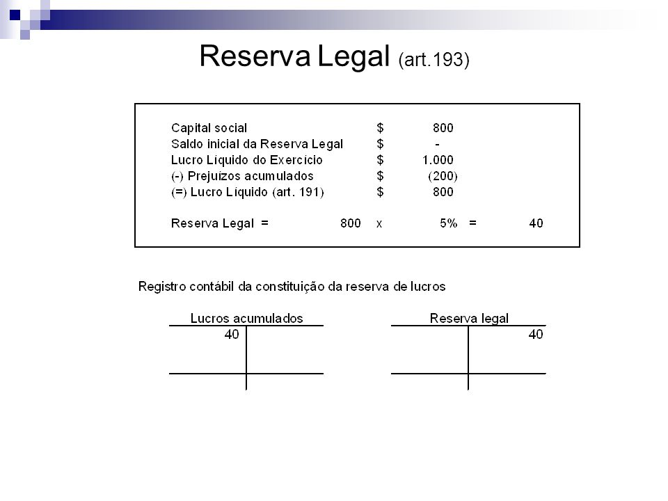 Reserva Legal (art.193)