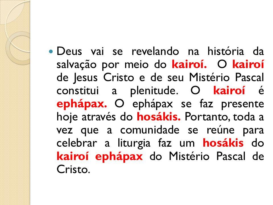 Deus vai se revelando na história da salvação por meio do kairoí