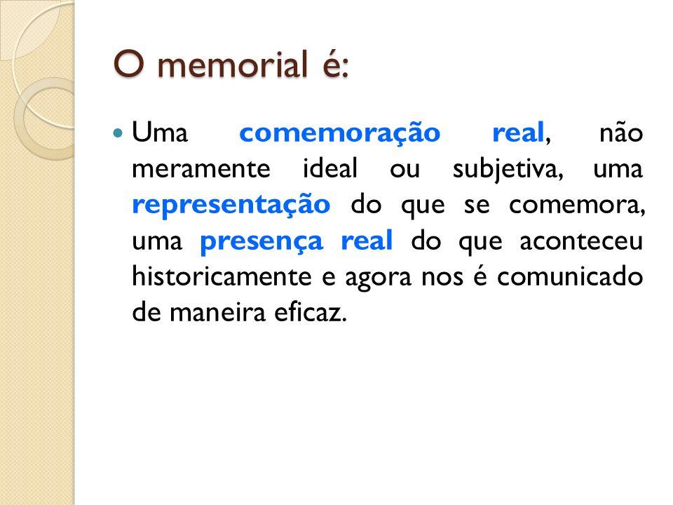 O memorial é: