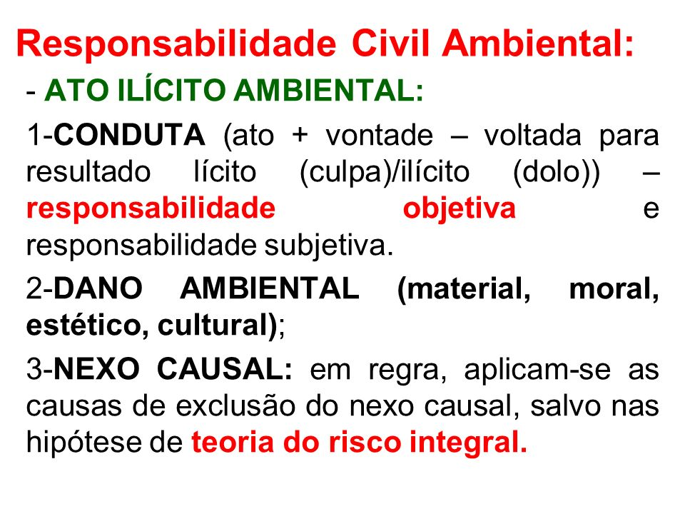 Responsabilidade Civil Ambiental: