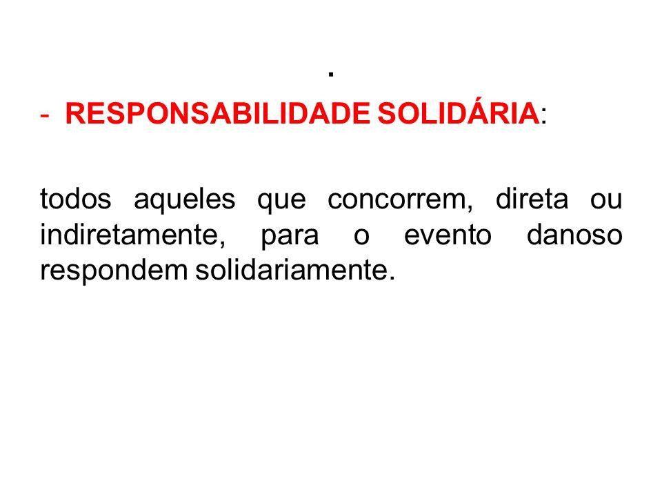 . RESPONSABILIDADE SOLIDÁRIA: