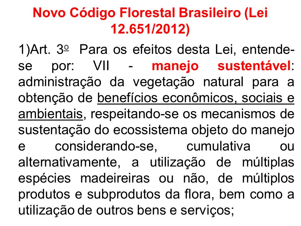 Novo Código Florestal Brasileiro (Lei 12.651/2012)
