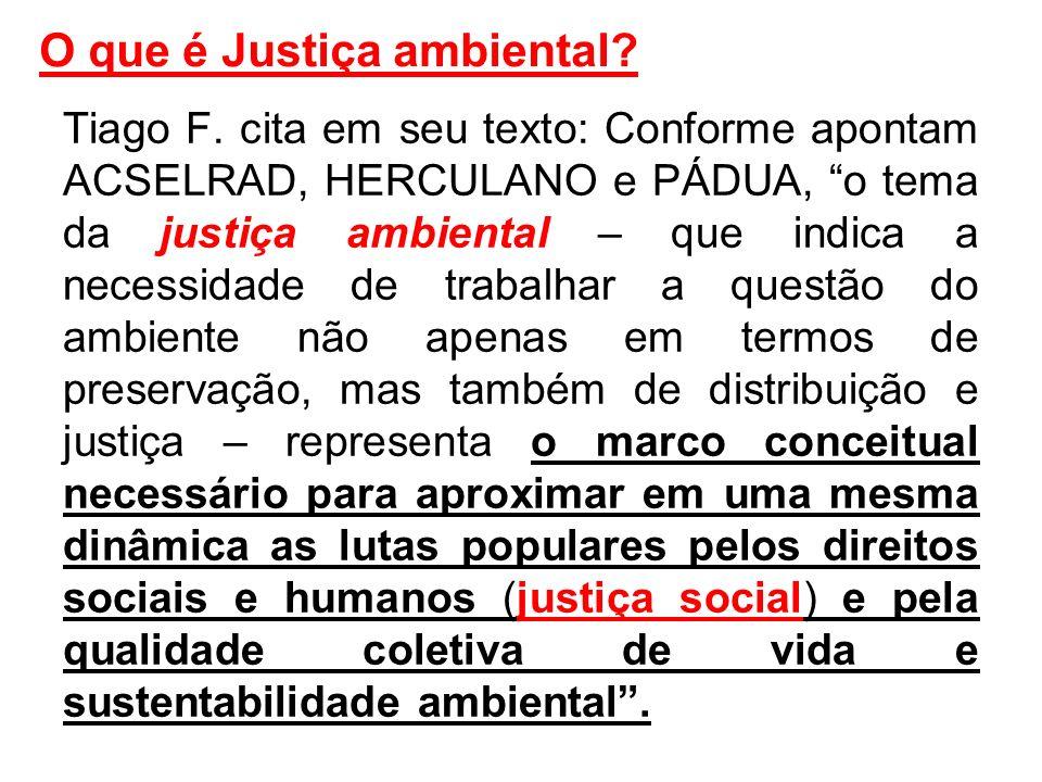 O que é Justiça ambiental