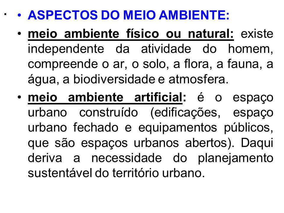 . ASPECTOS DO MEIO AMBIENTE: