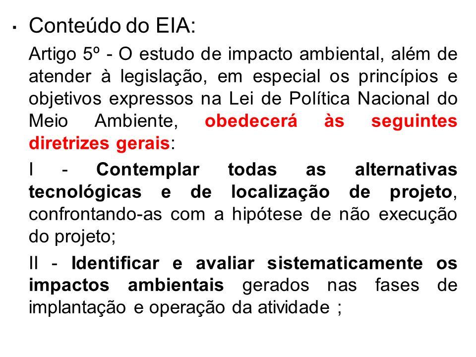 . Conteúdo do EIA: