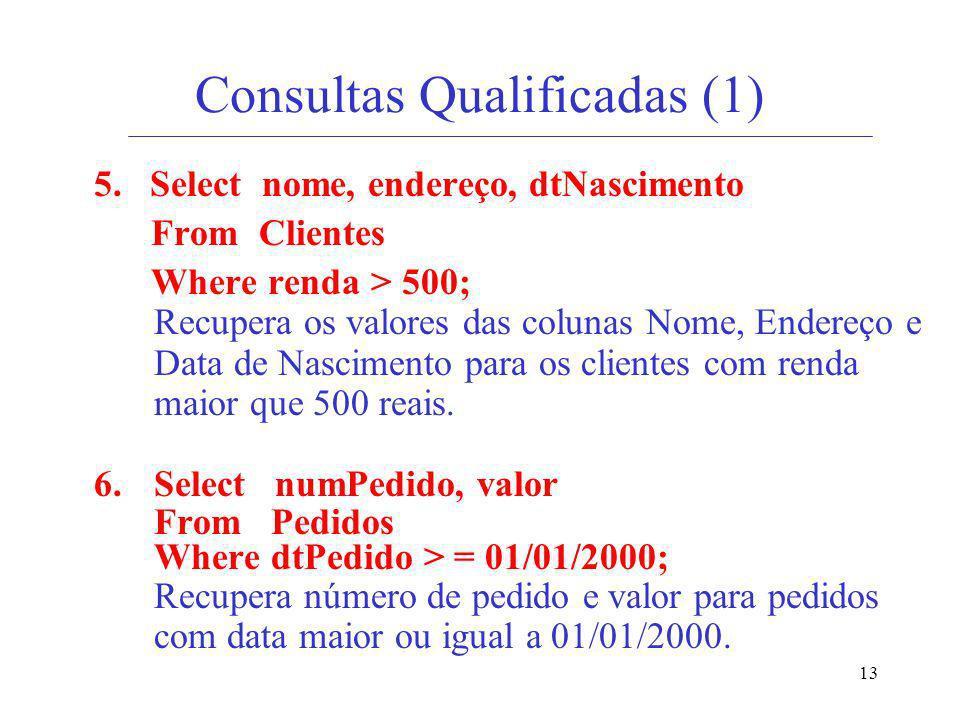 Consultas Qualificadas (1)