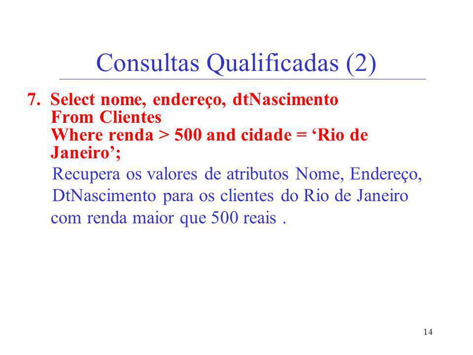 Consultas Qualificadas (2)