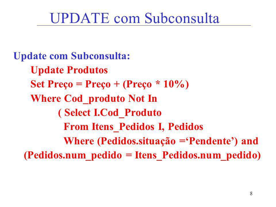 UPDATE com Subconsulta