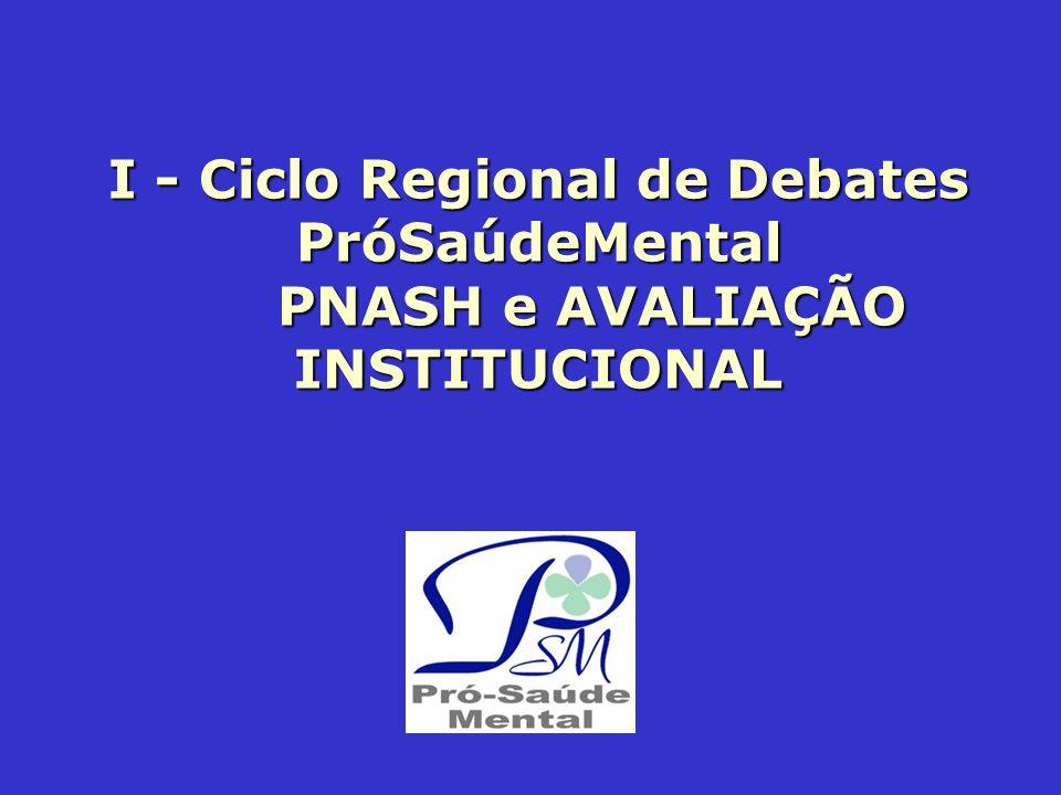 I - Ciclo Regional de Debates PróSaúdeMental