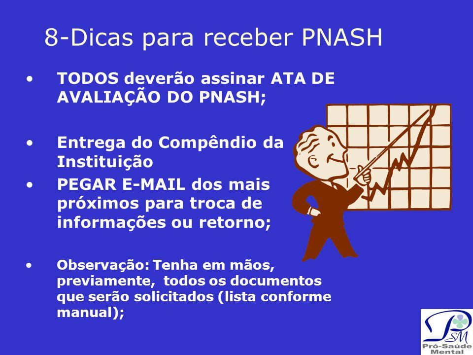 8-Dicas para receber PNASH
