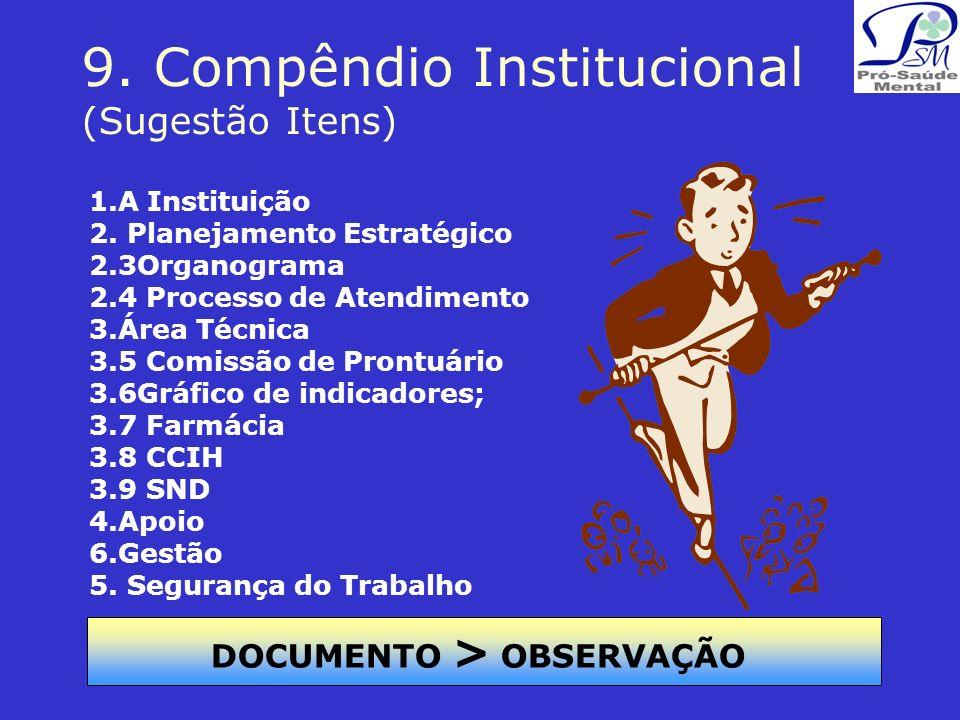 9. Compêndio Institucional (Sugestão Itens)