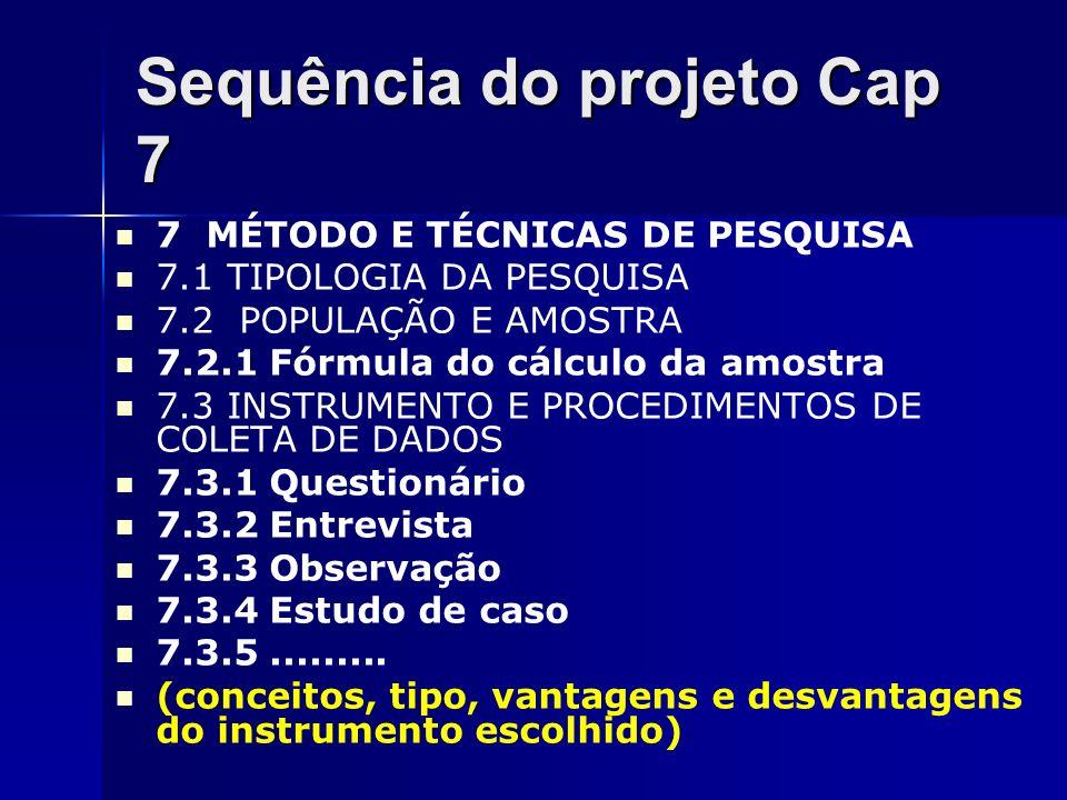Sequência do projeto Cap 7