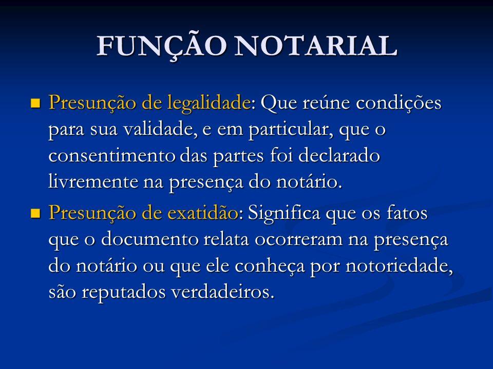 FUNÇÃO NOTARIAL